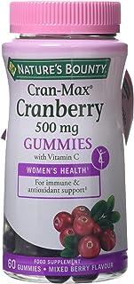 Nature's Bounty Cran-Max® Arándano Rojo 500 mg Gummies. Extracto d - 60 unidadese 500 mg