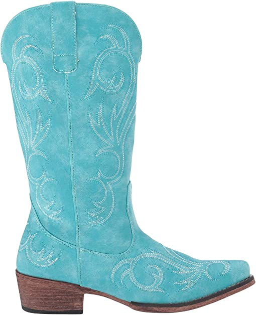 Turquoise Faux Leather