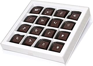 Dallmann Confections Dark Sea Salt Caramel Truffles (9 Piece)- Fleur de Sel - Dark Chocolate With Caramel - Hand Crafted Gourment Chocolate Gift Box