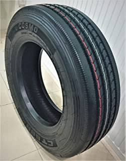 Set of 2 (TWO) Cosmo CT588 Plus Commercial All-Season Radial Tires-245/70R19.5 135/133L LRH 16-Ply