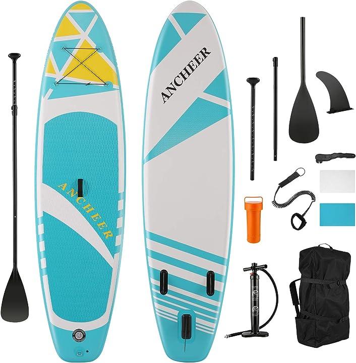 Paddle board gonfiabile sup gonfiabile per tuttofare tavola isup con pompa a mano a doppia azione pagaia B08Z74YNQ3