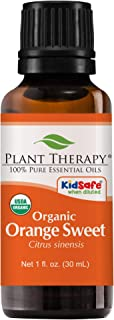 Plant Therapy Orange Sweet Organic Essential Oil 100% Pure, USDA Certified Organic, Undiluted, Natural Aromatherapy, Therapeutic Grade 30 mL (1 oz)