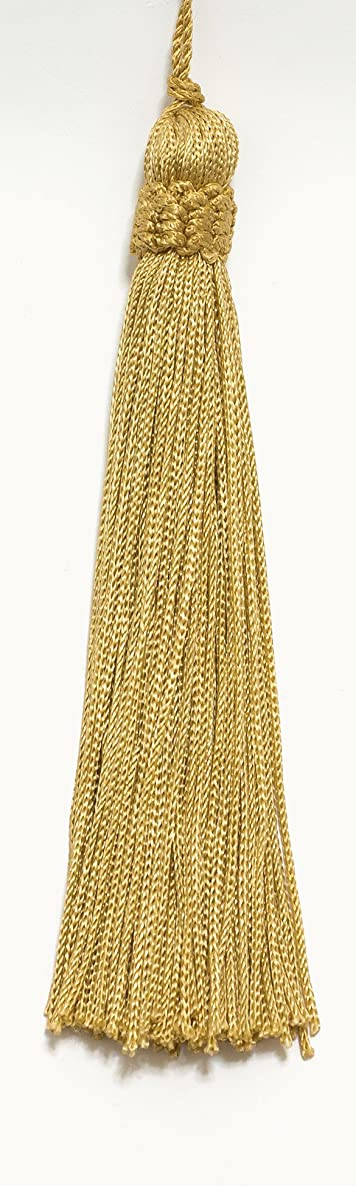 Set of 10 Gold Crown Head Chainette Tassel, 5.5 Inch Long with 1 Inch Loop, Basic Trim Collection Style# CT055 Color: Medium Gold - B7