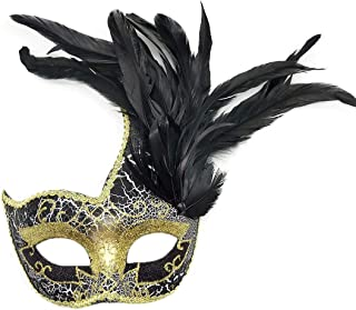 Feather Masquerade Mask Halloween Mardi Gras Cosplay Costumes Venetian Party Mask