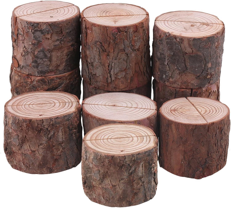 BQLZR 7x7x7cm ffnen 1,2mm 1,2mm 1,2mm Zylindrischen braun Notes Halter Holz Memo Clips f¨¹r Hochzeit Party 10er Pack B078PPBBG4 | Luxus  63eee7