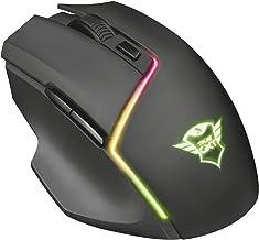 Trust Gaming GXT161 Disan Draadloze Gaming Muis, 500-3000 DPI, Instelbare RGB Verlichting, Draadloos, Zwart