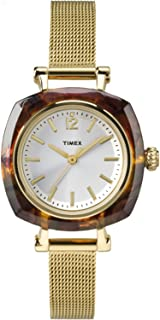 Timex Women's TW2P69900 Helena Gold-Tone/Tortoise Shell Watch