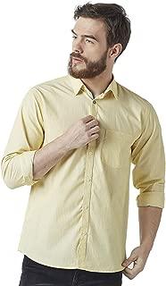 Crimsoune Club Yellow Striped Men's Shirt