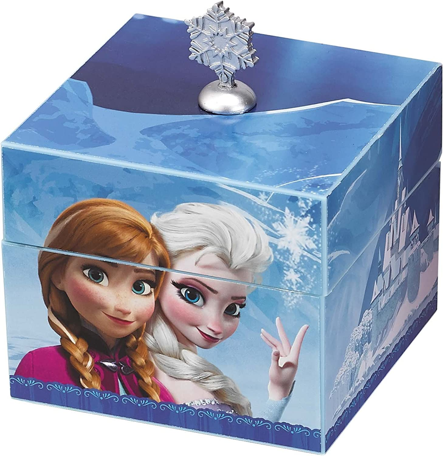 Disney Frozen Anna & Elsa bluee Keepsake Musical Box