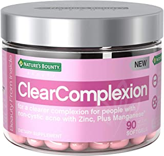 Nature's Bounty ClearComplexion Multivitamins, with Zinc + Manganese, for a Clearer Complexion for People with Non-Cystic Acne*, 90 Softgels