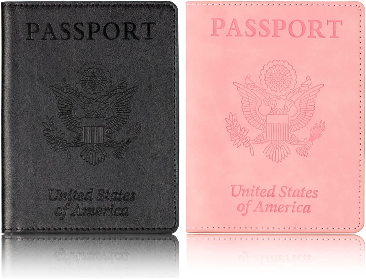 2 Max 55% OFF Pack Passport Holder Finally resale start with Vaccine Card Slot C Leather