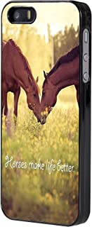iPhone 5/5s/SE Case,Horse Theme Durable Hardshell Case for Apple iPhone iPhone 5/5s/SE