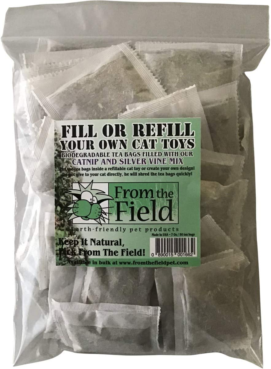 From The Field Fill Or Refilll Your Own Catnip Tea Bags