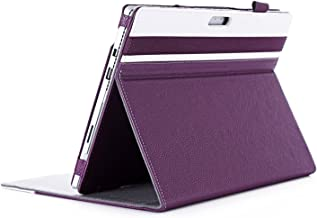 Surface Pro 3 Case, ProCase Premium Folio Cover Case with Stand for Microsoft Surface Pro 3 (3rd Generation) Tablet (12-Inch) (White/Purple)