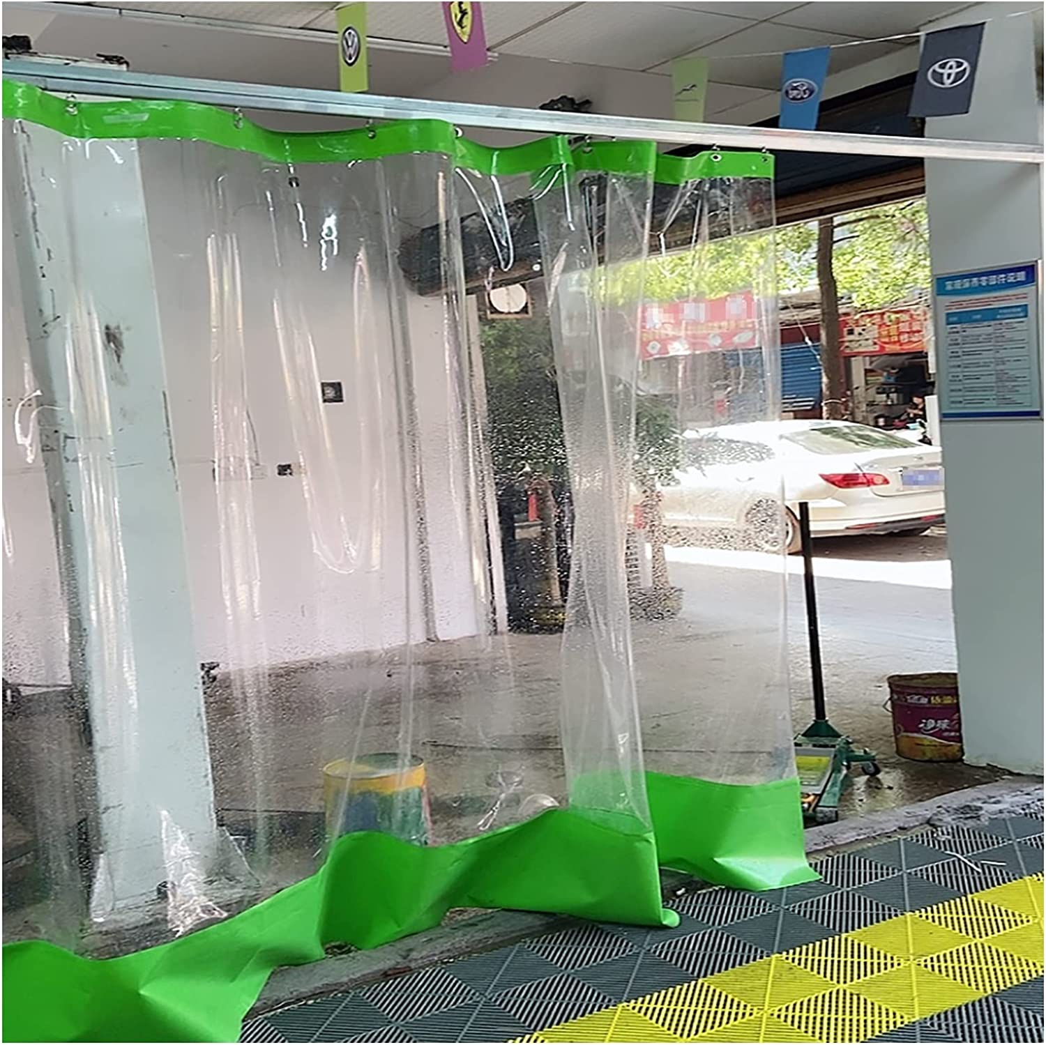 AWSAD Special Partition Curtain for Tarp Per Car Washing Sale special price OFFicial mail order Clear