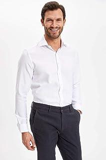 DeFacto Cepsiz Uzun Kollu Modern Fit Gömlek