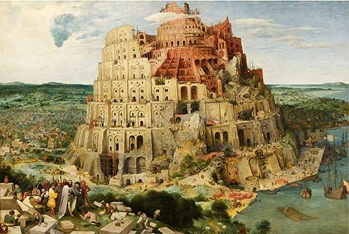 Puzzle House- Holzpuzzle, Babel-Turm von Babylon, Perfect Cut & Fit, 500 1000 1500 Stück Boxed Fotografie Spielzeug Spiel Kunst Malerei für Erwachsene -427 (Größe   1500jpc)