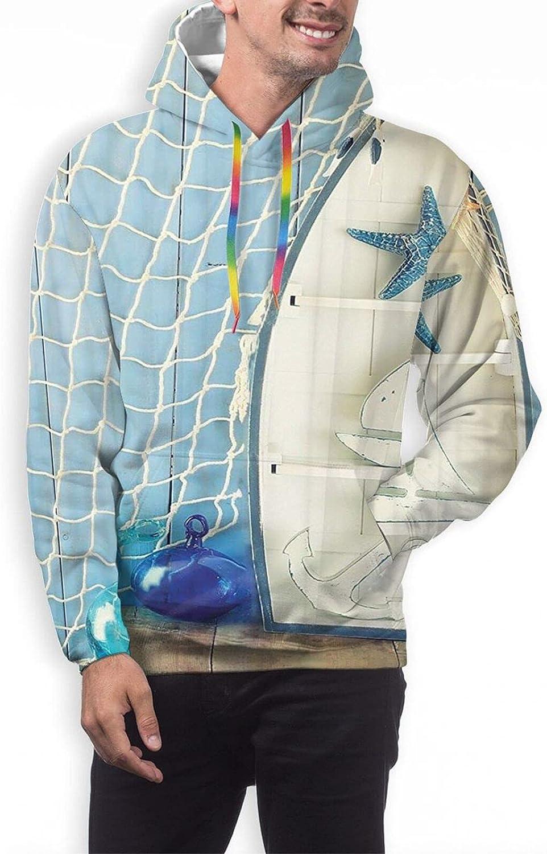 Hoodie For Men Women Unisex Fishing Boat Net Starfish Arrows Hoodies Outdoor Sports Sweater