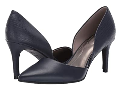 Bandolino Grenow Heel (Navy Smooth/Lizard) High Heels