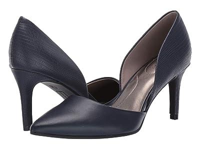 Bandolino Grenow Heel (Navy Smooth/Lizard) High Heels