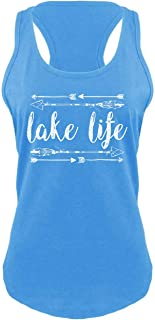Lake Life Women's Racerback Tank Top - Cute, Comfy, Trendy and Perfect for a Weekend on The Water!