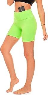 Yoga Shorts Running Short for Women High Waist Workout 5 Inch Bike Shorts with Pockets (S14)