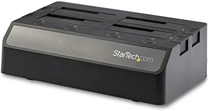 """StarTech.com 4-Bay SATA SSD/HDD Docking Station - External USB 3.1 (10Gbps) SATA SS/HDD Dock for 2.5""""/3.5"""" SSDs/HDDs (SDOC..."""