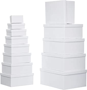 Sterne//Gold 13er Set in absteigender Gr/ö/ße Stabiler Karton Brandsseller Geschenkbox Aufbewahrungsbox Kartenkarton mit Deckel