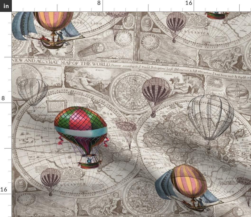 Vintage Hot Air Balloons Market Tote Bag Cotton Canvas Tote