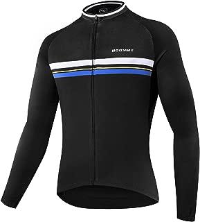 NOOYME Men's Cycling Jersey Short Sleeve Bike Shirt Breathable Printed Long Sleeve Bike Jersey