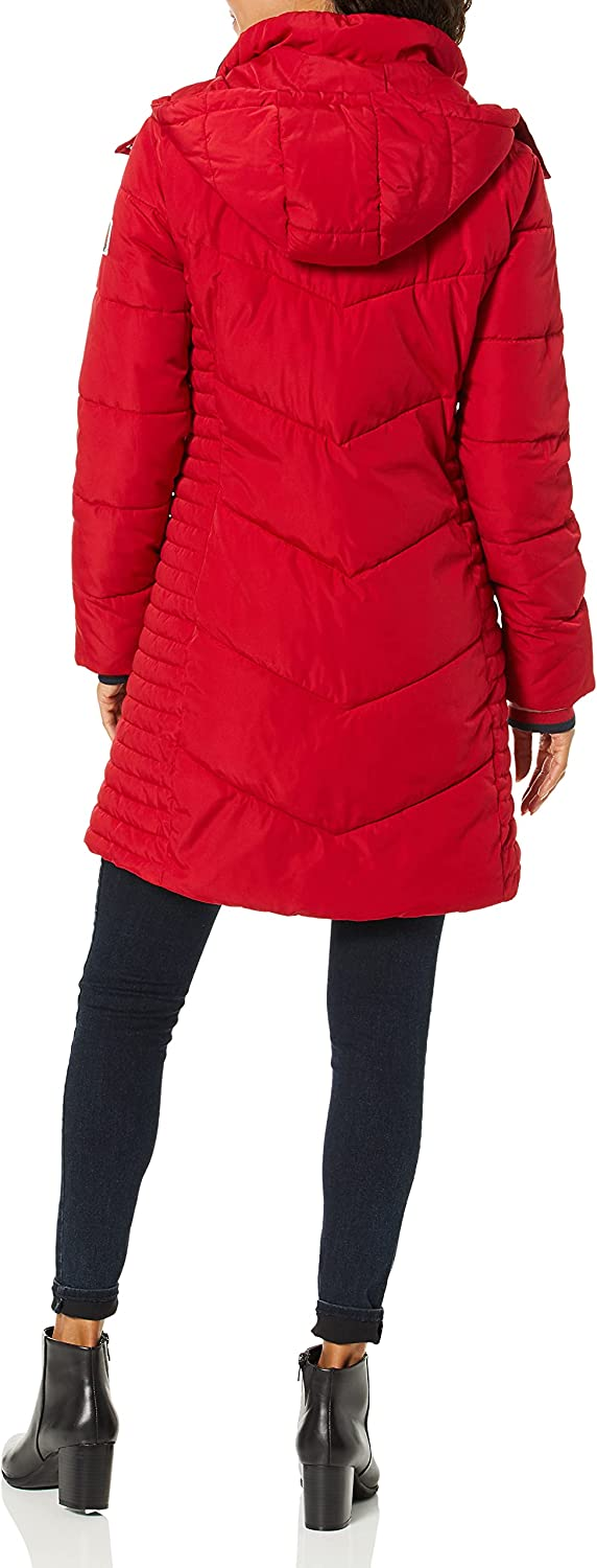 Tommy Hilfiger Women's Quilted Hooded Long Puffer Jacket