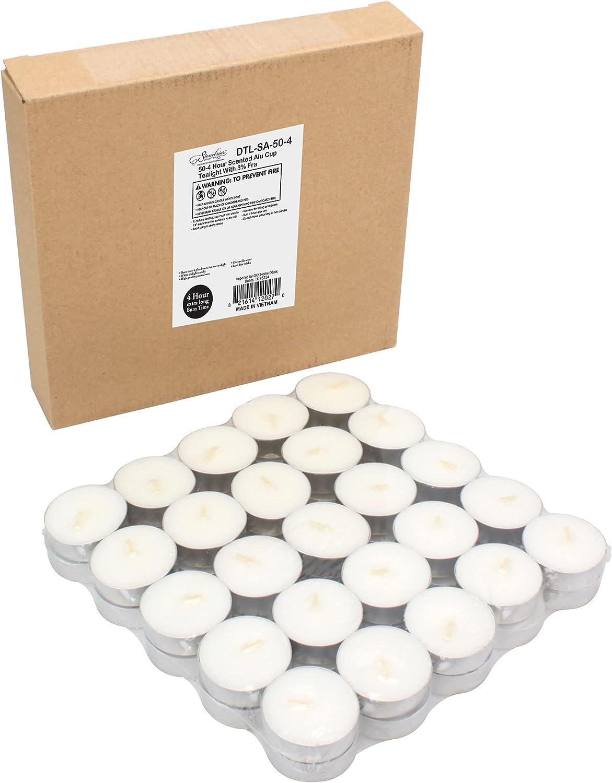 Stonebriar 50 5 ☆ popular Large special price Pack 4 Hour Burn Citronella Tea Time Scented Light