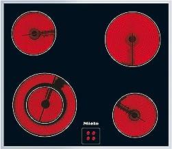 Miele KM 6012 herdgesteuertes Elektro-Kochfeld / Glaskeramik / Breite: 57,4 cm, HiLight-Beheizung, Restwärmeanzeige