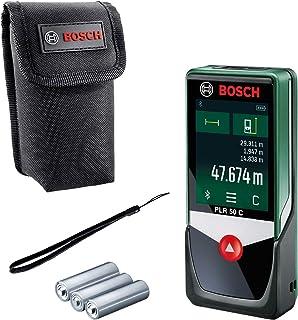 Bosch laserafstandsmeter PLR 50 C (meetbereik: 0,05 – 50 m, display met touchscreen, in kartonnen doos)