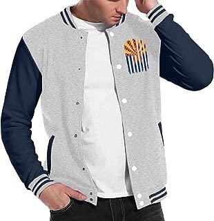 Arizona American Flag Baseball Jacket Uniform, Men Women Varsity Premium Jacket Overcoat