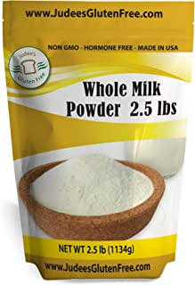 Judee's Whole Milk Powder (40 oz-2.5 lb): Non-GMO, Hormone Free USA Produced