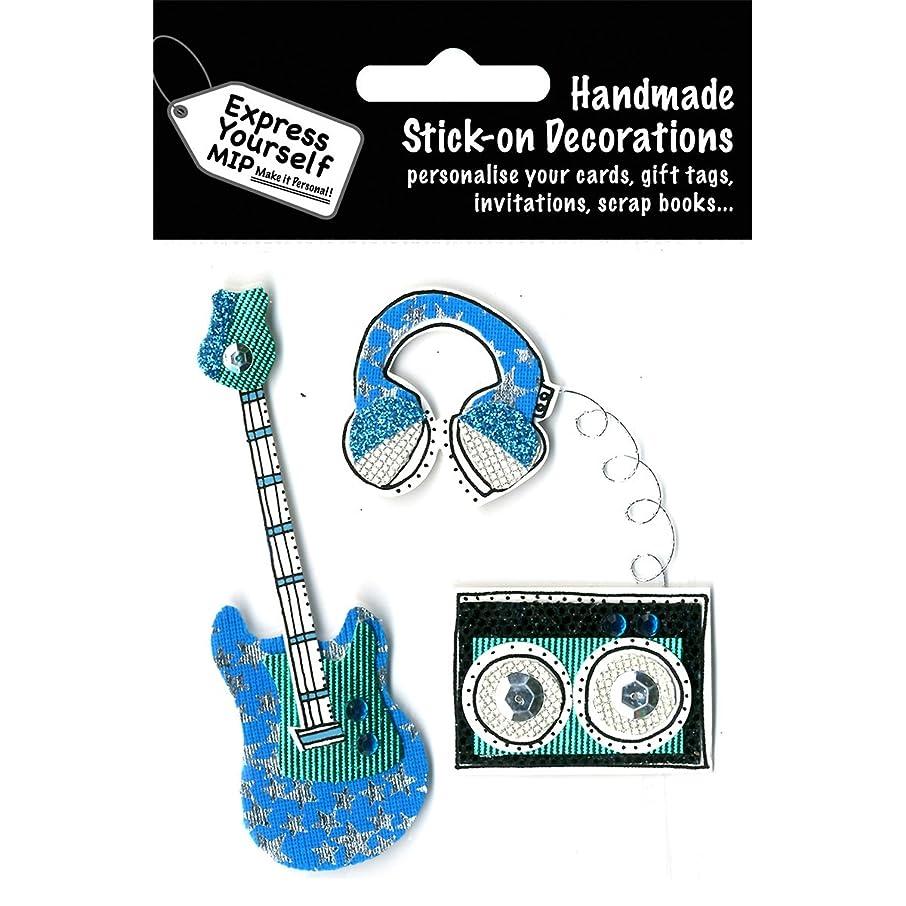 Express Yourself Mip 3D Stickers-Guitar, Turntable & Headphones