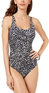 Black White Stained Glass Giraffe One-Piece Swimsuit 12