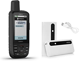 Garmin GPSMAP 66i GPS Handheld and Satellite Communicator and Aibocn 10,000mAh Portable Battery Charger Bundle (010-02088-01)