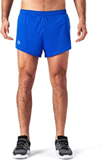 Uomo Sport Running 1 Elite Diviso in Esecuzione Pantaloncini con Lato Maglia Pannello Presto Asciutto Leggero Poliestere