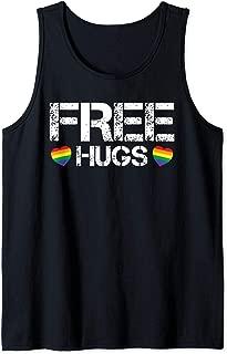 Free Hugs Rainbow Heart Gay Pride Rainbow Flag LGBT CSD Tank Top