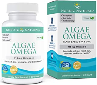 Nordic Naturals Algae Omega - Vegan Omega-3 Supplement for Eye Health, Heart Health, and Optimal Wellness*, 60 Count