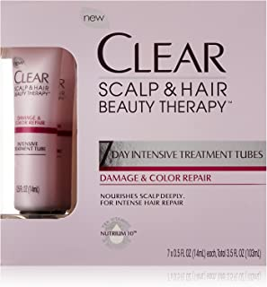 Clear 7 Day Intensive Treatment Tubes, Color and Damage Repair, 3.5 Fl Oz