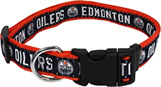 Pets First NHL Edmonton Oilers Collar for Dogs & Cats, Small. - Adjustable, Cute & Stylish! The Ultimate Hockey Fan Collar!