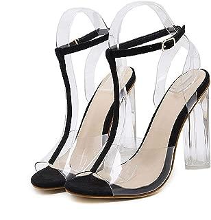 PVC Women Sandals Sexy Clear Transparent Ankle Strap High Heels Party Sandals Women Shoes