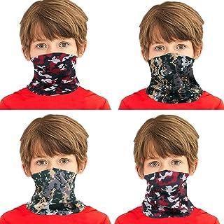 4 Pack Magic Boys Girls Bandanas Neck Gaiter Kids Face Mask Magical Multi Funtion UV Protection Headband