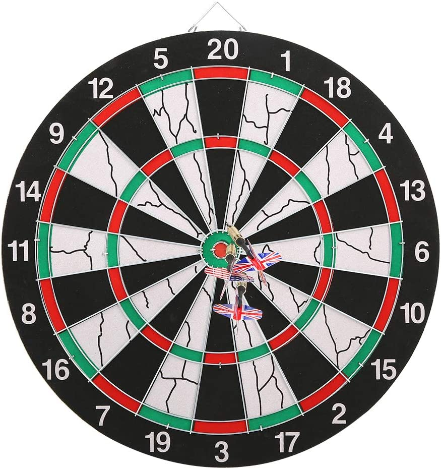 Board Set, Double Sided Board 14.2x0.7in Target Game Indoor Outd