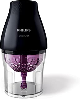 Philips Viva Collection Onion Chef Chopper 1.1 Litre Bowl, ChopDrop technology, Automatic Speed Selection, Stainless Steel...