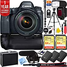 $2199 Get Canon EOS 6D Mark II 26.2MP Full-Frame Digital SLR Camera with 24-105mm is II USM Lens Pro Memory Triple Battery & Grip SLR Video Recording Bundle - Newly Released 2018 Beach Camera