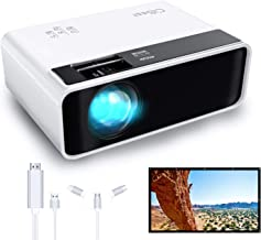 $109 » CiBest Mini Projector + 3 in 1 HDMI Cable Adapter for Android iPhone iPad + 100 inch Projector Screen
